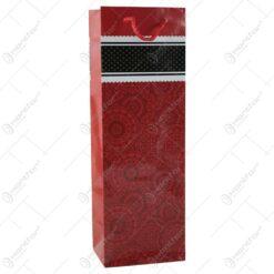 Punga cadou pentru bautura 12x36 Design Bordo floral