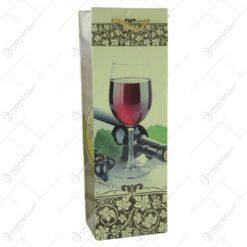Punga cadou pentru bautura 12x36 - Design Pahar de vin rosu
