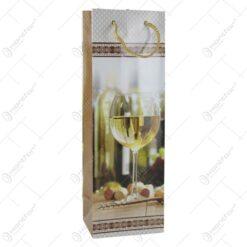 Punga cadou pentru bautura 12x36 - Design Pahar de vin alb