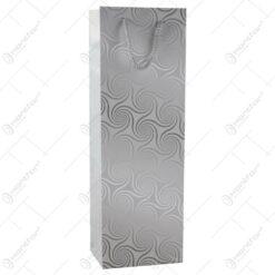 Punga cadou pentru bautura 12x36 - Design Elegant argintiu