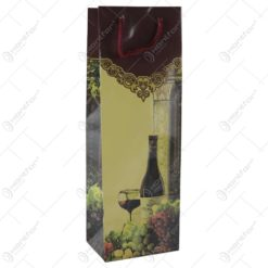 Punga cadou pentru bautura 12x36 - Design Sticla de vin