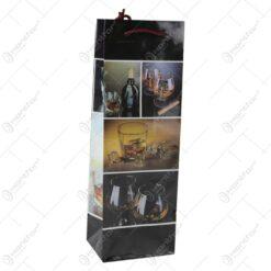 Punga cadou pentru bautura 12x36 - Design colaj whiskey