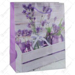 Punga cadou din hartie 18x23 CM - Design Lavender
