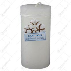 Lumanare parfumata cilindrica 14 CM - Cotton