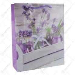 Punga cadou din hartie 26x32 CM - Design Lavender