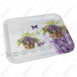 Tava pentru servire din plastic Buchet de flori 39x30 CM