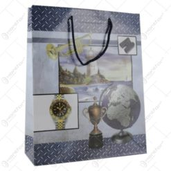 Punga cadou din hartie 26x32 CM - Design Glob pamantesc