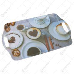 Tava pentru servire din plastic Coffee 38x23 CM