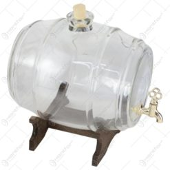 Butoi din sticla cu robinet si suport 5 L