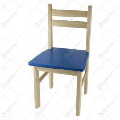 Scaun pentru copii din lemn Rosu/Albastru 29x54 CM