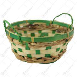 Cos rotund din bambus cu manere 19 CM