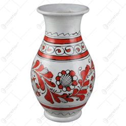 Vaza ceramica pictat cu motive populare 19 CM