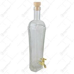 Sticla cu dop si robinet pentru bauturi