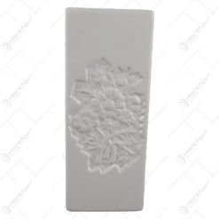 Umidificator de calorifer din ceramica 8x20 CM Alb cu model floral