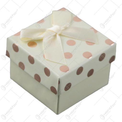 Cutie pentru bijuterii cu buline 5 CM - se vinde 24buc/bax