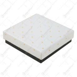 Cutie pentru bijuterii cu buline aurii 9 CM - se vinde 24buc/bax