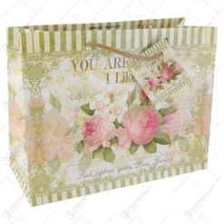 Punga cadou din hartie 23×18CM - Design Vintage Roses