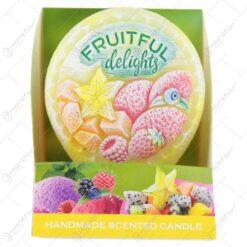 Lumanare parfumata Fruitful delights 8 CM - Dysk
