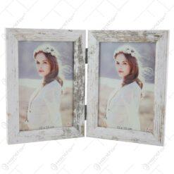 Rama foto dubla din plastic Vintage pentru poze 10x15 CM