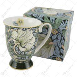 "Cana din portelan ""Green"" de William Morris 375 ml in cutie cadou"