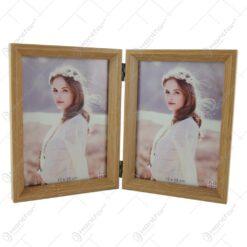 Rama foto dubla din plastic pentru poze 13x18 CM