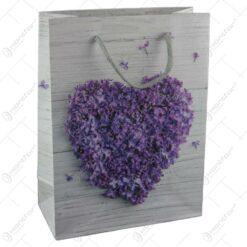 Punga cadou din hartie 18x24 CM - Inima Florala
