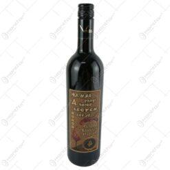"Vin rosu 0.75 ml cu eticheta din pluta ""Ha mar ennyi a korod...Boldog szuletesnapot"""