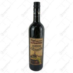 "Vin rosu 0.75 ml cu eticheta din pluta ""Teged nem lehet elfelejteni... Boldog nevnapot"""