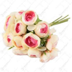 Buchet de trandafiri mini din matase 32 CM