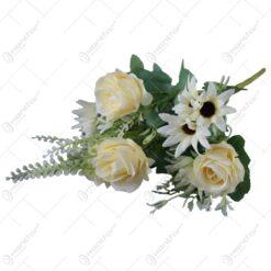 Buchet artificial cu trandafiri 30 CM