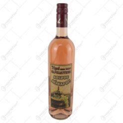 """Vin rose 0.75 ml cu eticheta din pluta """"Teged nem lehet elfelejteni... Boldog nevnapot"""""""
