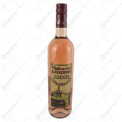 "Vin rose 0.75 ml cu eticheta din pluta ""Teged nem lehet elfelejteni... Boldog szuletesnapot"""