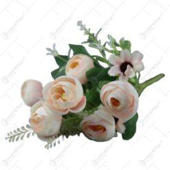 Buchet artificial cu trandafiri si margarete 30 CM