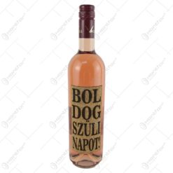 """Vin rose 0.75 ml cu eticheta din pluta """"Boldog szulinapot"""""""