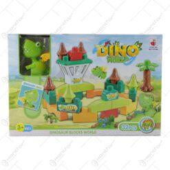 """Cuburi de construit cu dinosaur """"Dino World"""""""