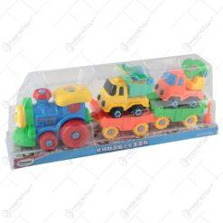 Tren cu masinute din plastic 43 CM