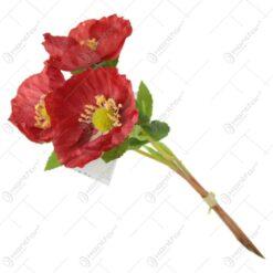 Floare de mac din matase 31 CM