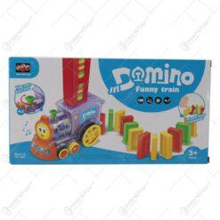 Locomotiva domino cu sunete si lumini 3 D