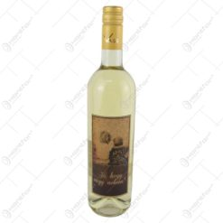 "Vin alb 0.75 ml cu eticheta din pluta ""Jo"