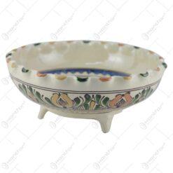 Fructiera din ceramica de Corund pictat cu motive traditionale 25 CM