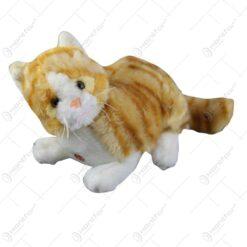 Pisica de plus cu sunete si fundita 27 CM