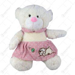 Urs de plus in rochita roz 35 CM