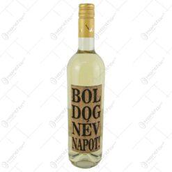 "Vin alb 0.75 ml cu eticheta din pluta ""Boldog nevnapot"""