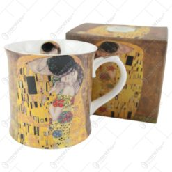 "Cana portelan 460 ml ""Sarutul"" de Gustav Klimt"