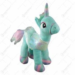 Unicorn din plus cu paiete 38 CM