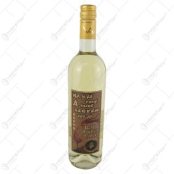 "Vin alb 0.75 ml cu eticheta din pluta ""Ha mar ennyi a korod...Boldog szuletesnapot"""