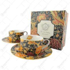 """Set 2 cesti cu farfurii 240 ml """"Cray Floral"""" de William Morris"""