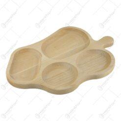 Platou din lemn cu 4 compartimente