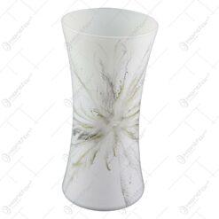 Vaza din sticla - Design Fantezia Gri 20 CM