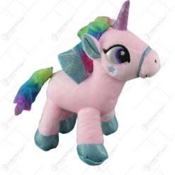 Unicorn curcubeu din plus 28 CM